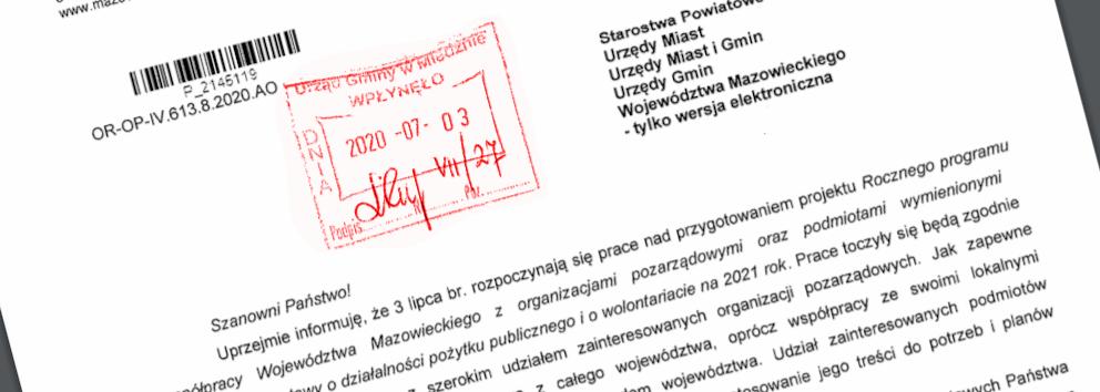 Fragment dokumentu - wrota mazowsza
