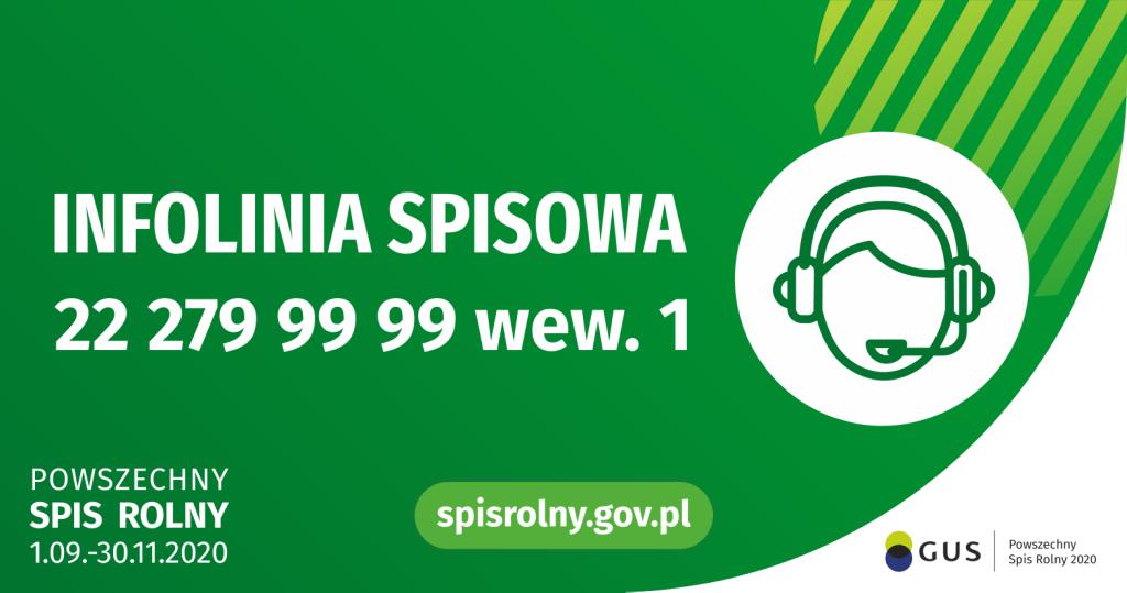 "Napis ""Infolinia spisowa 22 279 99 99"""