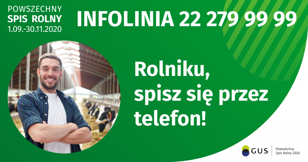 Plakat - Rolniku spisz się przez telefon